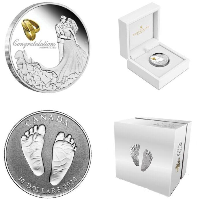 Hochzeit Taufe Geschenk Silber Münze