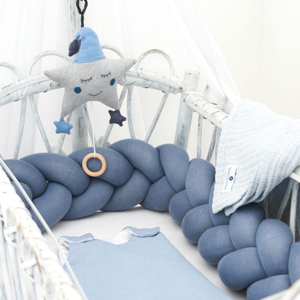 Baby Bettschlange Zopf Wickelauflage