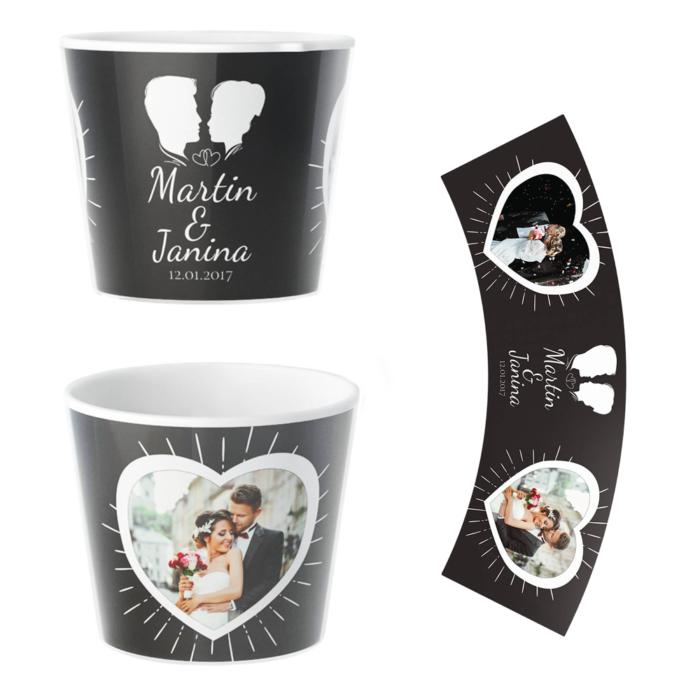 Hochzeit Blumentopf Personalisiert Geschenk