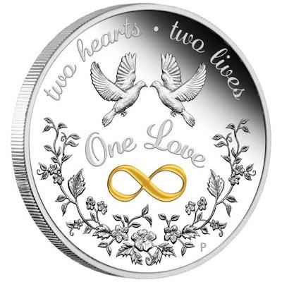 Hochzeit Geschenkmünze Silber