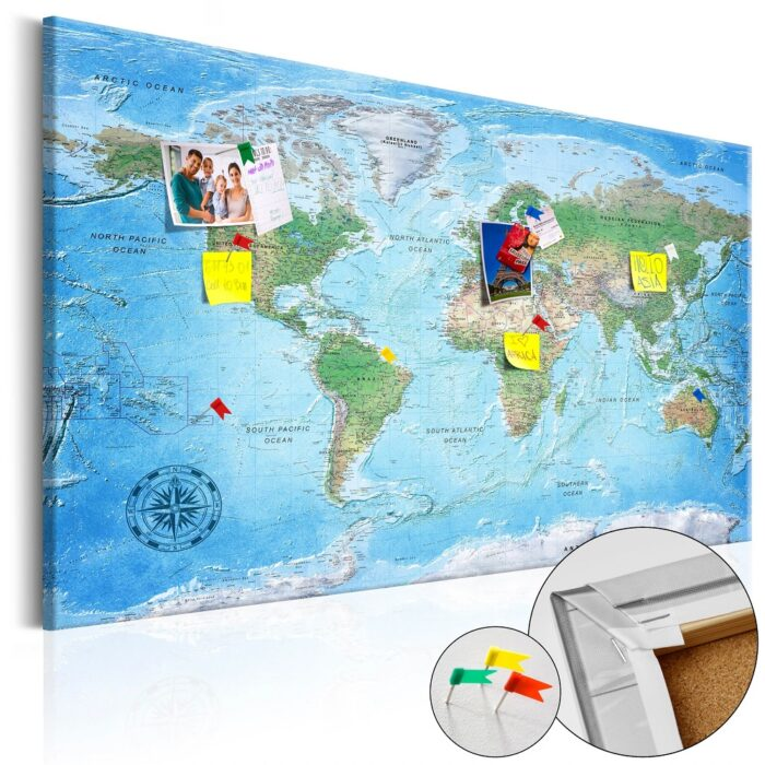 Kork Weltkarte Pinnwand