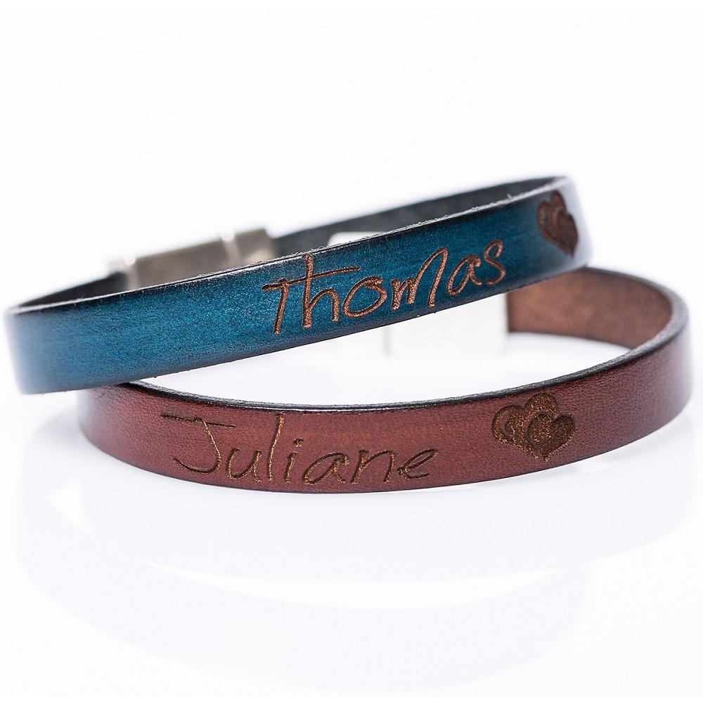 Lederarmband Leder Armband mit Text Gravur romantische Geschenke für Verliebte