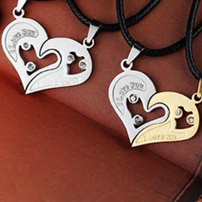 Partner Geschenk Herz Halskette Puzzle